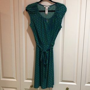 Laundry Cap Sleeve Wrap Dress